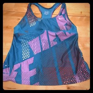 Nike tank with built in bra